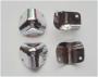 9-111  Уголок защитный для колонок , кейсов , для корпусов РЭА , металлический 23х23х23мм 2 крепления ,хромированный