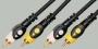 """Шнур 2 x RCA """"шт"""" - 2 x RCA """"шт"""" PRO-class пластик """"позолоченный"""" OD5.0x10.0мм 1.0м"""