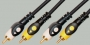 """Шнур 2 x RCA """"шт"""" - 2 x RCA """"шт"""" PRO-class пластик """"позолоченный"""" OD5.0x10.0мм 5.0м"""
