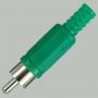 """Разъем RCA """"шт"""" пластик на кабель, зеленый"""