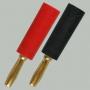 """Разъем BANANA """"шт"""" пластик """"позолоченный"""" на кабель диаметром до 4.0мм, винт"""