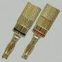 """Разъем BANANA """"шт"""" металл """"позолоченный"""" на кабель диаметром до 4.0мм"""