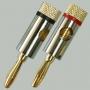 """Разъем BANANA """"шт"""" металл """"позолоченный"""" на кабель диаметром до 6.0мм (Ni-Gold)"""