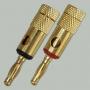 """Разъем BANANA """"шт"""" металл """"позолоченный"""" на кабель диаметром до 6.0мм"""