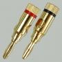 """Разъем BANANA """"шт"""" металл """"позолоченный"""" на кабель диаметром до 10.0мм"""