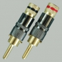 """Разъем BANANA """"шт"""" металл цанга """"позолоченный"""" на кабель диаметром до 10.0мм, винт (Nakamichi)"""