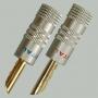 """Разъем BANANA """"шт"""" металл """"позолоченный"""" на кабель диаметром до 4.0мм, винт (перо)"""