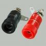 """Разъем BANANA """"гн"""" 33 мм пластик на корпус, красный и черный"""