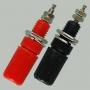 """Разъем BANANA """"гн"""" 45 мм пластик на корпус, красный и черный"""