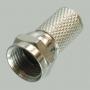 """Разъем F """"шт"""" медь, покрытая никелем, на кабель RG-6"""
