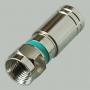 """Разъем F """"шт"""" на кабель RG-6, SAT-50, SAT-700, SAT-703, DG-113, TS-703J с резиновым уплотнением и силиконовым заполнением, обжим"""