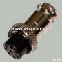 """Разъем GX16 20M 8 контактов """"розетка"""" на кабель"""