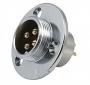 """Разъем GX16 12M 2 контакта """"вилка"""" с круглым фланцем 3 отверстия для крепления на корпус  (GX12-E-2P)"""