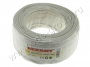 Кабель Microcoaxial+Cu (75 Ом)D4мм  100м белый  REXANT