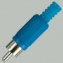 "Разъем RCA ""шт"" пластик на кабель, синий"