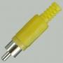 "Разъем RCA ""шт"" пластик на кабель, желтый"