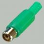 """Разъем RCA """"гн"""" пластик на кабель, зеленый"""
