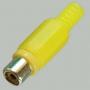 """Разъем RCA """"гн"""" пластик на кабель, желтый"""