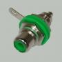 """Разъем RCA """"гн"""" металл с изолятором на корпус, зеленый"""