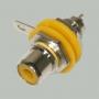 """Разъем RCA """"гн"""" металл с изолятором на корпус, желтый"""