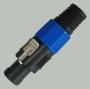 """1-581 Разъем SPEACON (спикон) """"шт"""" 4контакта пластик на кабель (91.0мм)"""