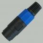 """1-590 Разъем SPEACON (спикон) """"гн"""" 4 контакта пластик на кабель  (91.0мм)"""