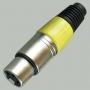 "Разъем XLR 3P ""гн"" металл цанга на кабель, желтый"