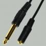 "Переход 6.35мм ""шт"" моно - 2.5мм ""гн"" моно пластик ""позолоченный"" с кабелем 0,3м"