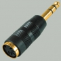 "Переход 6.35мм ""шт"" стерео - DIN 5 pin ""гн"" пластик ""позолоченный"""