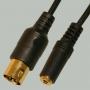 "Переход DIN 5 pin ""шт"" - 3.5мм ""гн"" стерео пластик ""позолоченный"" с кабелем 0,3м"