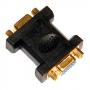 """Переход HD 15 Pin (VGA) """"гн"""" - HD 15 Pin (VGA) """"гн"""" пластик """"позолоченный"""""""