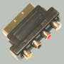 """Переход SCART """"шт"""" - 4 x RCA """"гн"""" """"вход-выход"""" пластик (MINI)"""