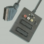 "Переход SCART ""шт"" - 2 х SCART ""гн"" + 3 x RCA ""гн"" + SVHS ""гн"" ""вход-выход"" пластик с кабелем 0.3м"