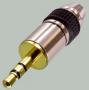 """Разъем аудио 3.5мм """"шт"""" стерео металл """"позолоченный"""" на кабель диаметром до 5.0мм"""