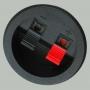 Прищепка аудио двойная круглая 55мм пластик на корпус вклеиваемая