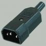 """Вилка сетевая """"3 PIN"""" пластик на кабель 250V 10A, 3-020  ( АС-101, K2417, AS-412 )"""