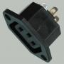 """Гнездо сетевое """"3 PIN"""" пластик на корпус 250V 10A, 3-025  ( AS-41 , AC-022, AC-2 )"""