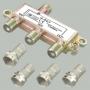 """Разветвитель на 3 тв 5-900MHz + разъем F """"шт"""" на кабель RG-6 (4 шт.) (ALDA-3)"""