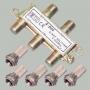 """Разветвитель на 4 тв 5-900MHz + разъем F """"шт"""" на кабель RG-6 (5 шт.) (ALDA-4)"""