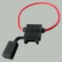 Держатель на 1 ATC (стандартный) флажковый предохранитель с кабелем 4мм2 (КОЛЬЦО)