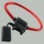 Держатель на 1 ATC (стандартный) флажковый предохранитель с кабелем 1мм2 (КОЛЬЦО)