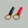 """7-100 Клемма питания для авто усилителя тип """"O"""" под кабель 4мм2 """"позолоченная"""""""