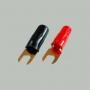 """7-110 Клемма питания для авто усилителя тип """"U"""" под кабель 4мм2 """"позолоченная"""""""