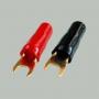 """7-113 Клемма питания для авто усилителя тип """"U"""" под кабель 10мм2 """"позолоченная"""""""