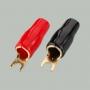 """7-116 Клемма питания для авто усилителя тип """"U"""" под кабель 16мм2  """"позолоченная"""""""