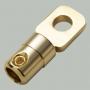 """7-162 Клемма питания для авто усилителя тип """"O"""" под кабель 16-25мм2 металл """"позолоченная"""""""