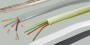 Кабель TLF-4C CCA IV телефонный плоский 4 жилы омедненный слоновая кость 100м