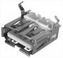 РАЗЪЁМ  Гнездо на плату 1*USB-A (металл) ТИП-2