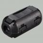 Ферритовый фильтр на кабель OD4.0мм с защелкой, черный , 9-300