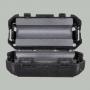 Ферритовый фильтр на кабель OD3.0мм с защелкой, черный , 9-300
